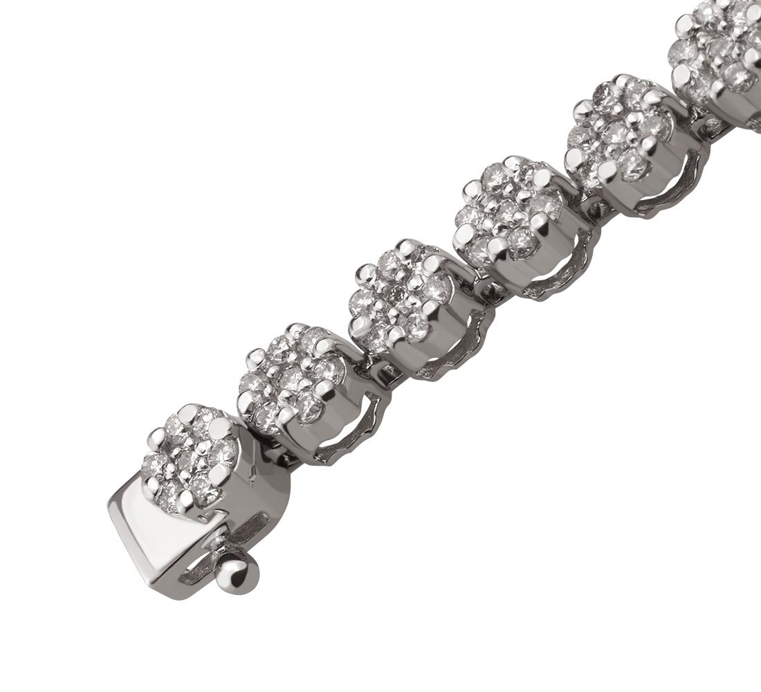 Золотий браслет з діамантами 01-17380307 фотографія
