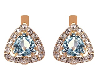 Золоті сережки з топазом 01-17642507 фотографія
