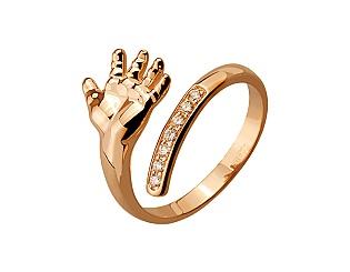 Золота каблучка з діамантами 1б_к-125 фотографія