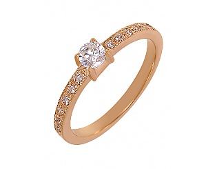 Золотое кольцо с фианитами 1б_к-021 фотография
