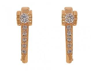 Золоті сережки з фіанітами 1б_с-013 фотографія