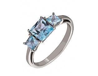 Золотое кольцо с топазами 2б_к-105 фотография