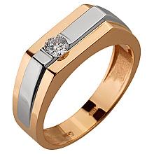 Золотое кольцо с бриллиантом (4б_к-112)