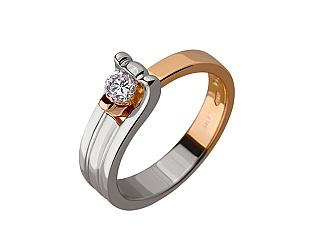 Золота каблучка з діамантом 01-17445808 фотографія