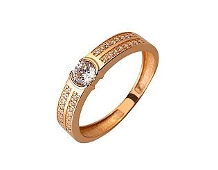 Золота каблучка з цирконієм куб. 01-17624608 фотографія