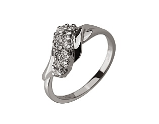 Золота каблучка з діамантом 01-17642508 фотографія