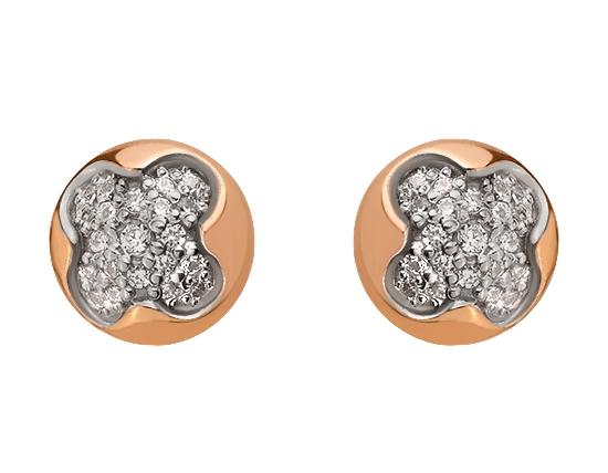 Золоті сережки з фіанітами 8с-163 фотографія