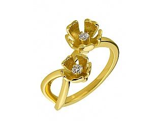 Золота каблучка з діамантом 3к-279 фотографія