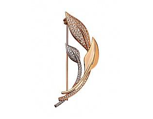 Золотий кулон з фіанітами 8б_бр-002 фотографія