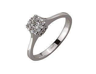 Золота каблучка з діамантами 01-17604109 фотографія