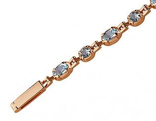 Золотой браслет с топазами 1б-026 фотография
