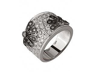 Золотое кольцо с фианитами 11б_к-036 фотография