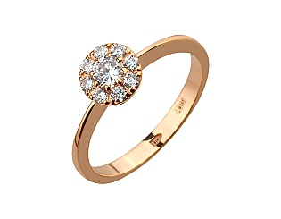 Золотое кольцо с фианитами 1б_к-148 фотография