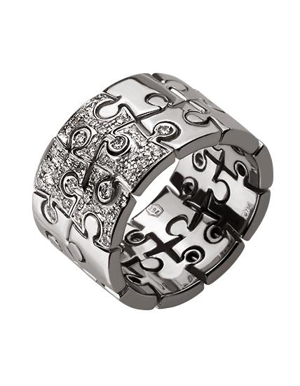 """Золотое кольцо 750 пробы с бриллиантами (01-16625410) """"Ювелирная карта"""""""