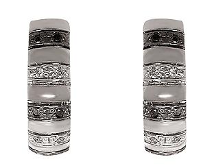 Золотые серьги с бриллиантом 01-17374210 фотография