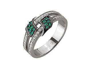 Золотое кольцо с бриллиантом 01-17441110 фотография