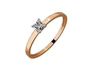 Золота каблучка з діамантами 01-17668710 фотографія
