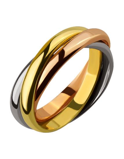 Золотое обручальное кольцо Trinity 49fa467e8a3f4