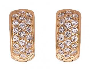 Золоті сережки з фіанітом 1-с-10 фотографія