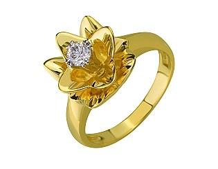 Золотое кольцо с бриллиантами 01-17387111 фотография