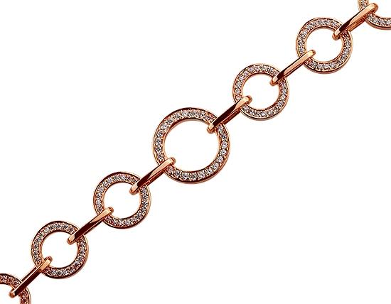 Золотой браслет с фианитом 01-17495211 фотография 1