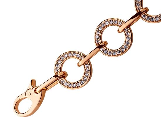 Золотой браслет с фианитом 01-17495211 фотография 2