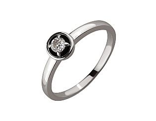 Золота каблучка з діамантом 01-17604111 фотографія