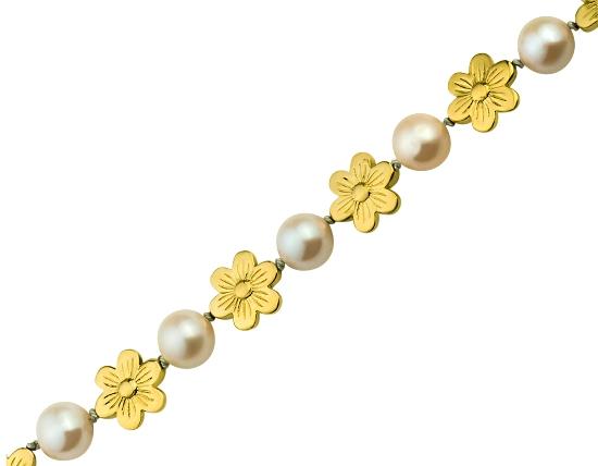 Золоте кольє з перлиною 3б_кл-002 фотографія 1