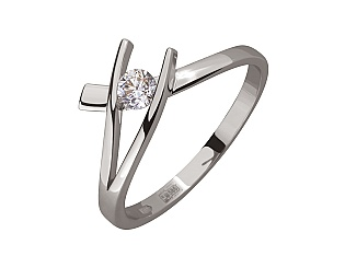 Золотое кольцо с бриллиантом 2б_к-196 фотография