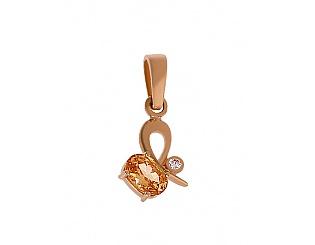 Золотий кулон з цирконіями 1п-044 фотографія