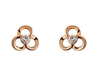 Золоті сережки з діамантами 1б_с-076 фотографія