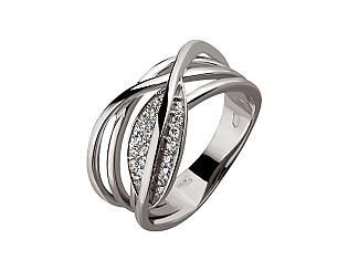 Золотое кольцо с фианитами и циркониями 2б_к-139 фотография