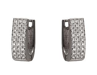 Золоті сережки з діамантом 01-17620812 фотографія