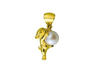 Золотий кулон з перлинами 3б_п-165 фотографія