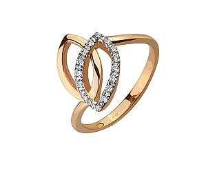 Золотое кольцо с фианитом 8к-268 фотография