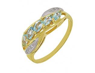 Золотое кольцо с топазами 5-к-1605 фотография