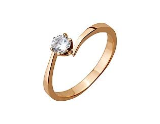 Золотое кольцо с фианитами 01-17290113 фотография