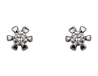 Золоті сережки з діамантом 01-17635613 фотографія
