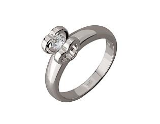 Золотое кольцо с бриллиантом 01-17676113 фотография