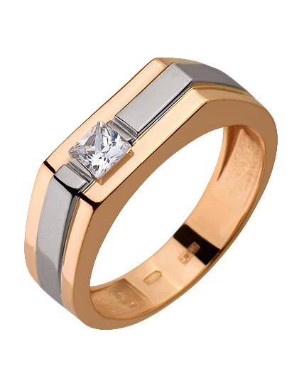 Золотой перстень 585 пробы с фианитами (15-000080114)