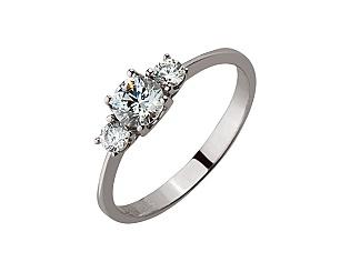 Золотое кольцо с фианитами 01-17192914 фотография