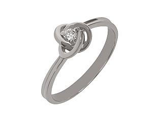 Золота каблучка з діамантом 01-17511061 фотографія