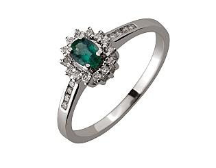 Золотое  кольцо с бриллиантами 01-17395714 фотография