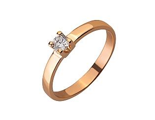 Золота каблучка з цирконієм куб. 01-17620814 фотографія