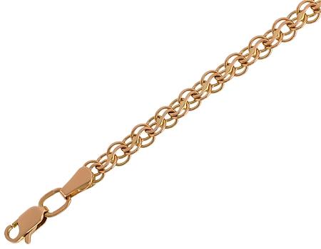 Золотой браслет на заказ с надписью