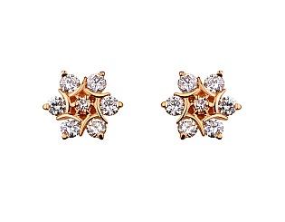 Золоті сережки з діамантами 1б_с-064 фотографія