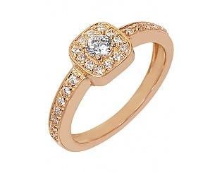 Золотое кольцо с фианитами 1б_к-071 фотография