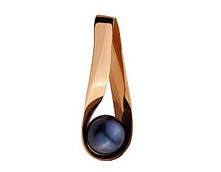 Золотий кулон з перлинами 1п-143 фотографія