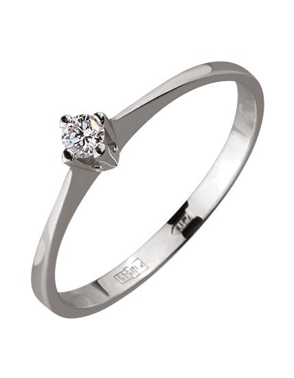 Золотое кольцо с бриллиантом 01-17586615 фотография 1