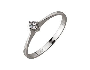 Золотое кольцо с бриллиантом 01-17586615 фотография